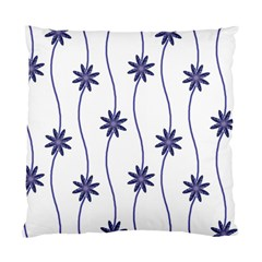 Geometric Flower Seamless Repeating Pattern With Curvy Lines Standard Cushion Case (two Sides)