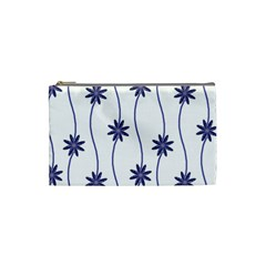 Geometric Flower Seamless Repeating Pattern With Curvy Lines Cosmetic Bag (Small)