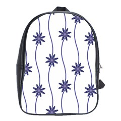 Geometric Flower Seamless Repeating Pattern With Curvy Lines School Bags(large)