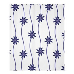 Geometric Flower Seamless Repeating Pattern With Curvy Lines Shower Curtain 60  X 72  (medium)