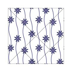 Geometric Flower Seamless Repeating Pattern With Curvy Lines Acrylic Tangram Puzzle (6  x 6 )
