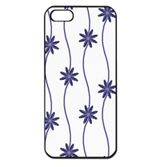 Geometric Flower Seamless Repeating Pattern With Curvy Lines Apple iPhone 5 Seamless Case (Black)