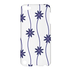Geometric Flower Seamless Repeating Pattern With Curvy Lines Apple iPod Touch 5 Hardshell Case
