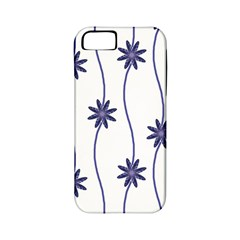 Geometric Flower Seamless Repeating Pattern With Curvy Lines Apple iPhone 5 Classic Hardshell Case (PC+Silicone)