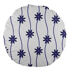 Geometric Flower Seamless Repeating Pattern With Curvy Lines Large 18  Premium Round Cushions