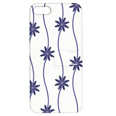 Geometric Flower Seamless Repeating Pattern With Curvy Lines Apple iPhone 5 Hardshell Case with Stand