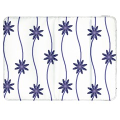 Geometric Flower Seamless Repeating Pattern With Curvy Lines Samsung Galaxy Tab 7  P1000 Flip Case