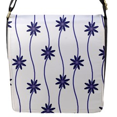 Geometric Flower Seamless Repeating Pattern With Curvy Lines Flap Messenger Bag (S)