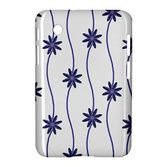 Geometric Flower Seamless Repeating Pattern With Curvy Lines Samsung Galaxy Tab 2 (7 ) P3100 Hardshell Case