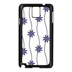 Geometric Flower Seamless Repeating Pattern With Curvy Lines Samsung Galaxy Note 3 N9005 Case (Black)