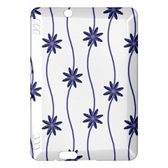 Geometric Flower Seamless Repeating Pattern With Curvy Lines Kindle Fire HDX Hardshell Case