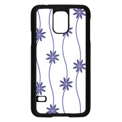 Geometric Flower Seamless Repeating Pattern With Curvy Lines Samsung Galaxy S5 Case (black)