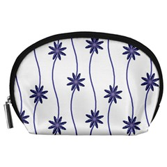 Geometric Flower Seamless Repeating Pattern With Curvy Lines Accessory Pouches (large)