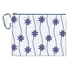 Geometric Flower Seamless Repeating Pattern With Curvy Lines Canvas Cosmetic Bag (XXL)