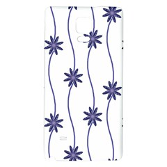 Geometric Flower Seamless Repeating Pattern With Curvy Lines Galaxy Note 4 Back Case
