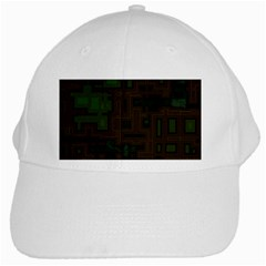 Circuit Board A Completely Seamless Background Design White Cap