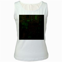 Circuit Board A Completely Seamless Background Design Women s White Tank Top