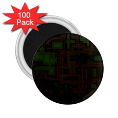 Circuit Board A Completely Seamless Background Design 2 25  Magnets (100 Pack)