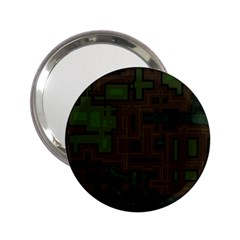 Circuit Board A Completely Seamless Background Design 2 25  Handbag Mirrors