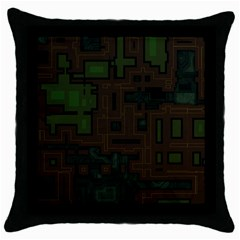 Circuit Board A Completely Seamless Background Design Throw Pillow Case (black)