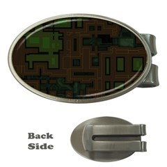 Circuit Board A Completely Seamless Background Design Money Clips (oval)