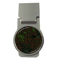 Circuit Board A Completely Seamless Background Design Money Clips (round)