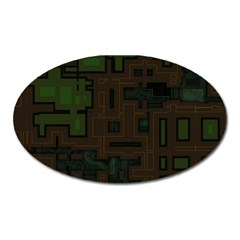 Circuit Board A Completely Seamless Background Design Oval Magnet