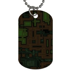 Circuit Board A Completely Seamless Background Design Dog Tag (One Side)
