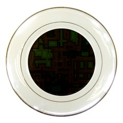 Circuit Board A Completely Seamless Background Design Porcelain Plates