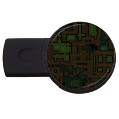 Circuit Board A Completely Seamless Background Design Usb Flash Drive Round (4 Gb)
