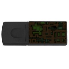 Circuit Board A Completely Seamless Background Design USB Flash Drive Rectangular (4 GB)