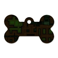Circuit Board A Completely Seamless Background Design Dog Tag Bone (two Sides)