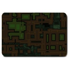Circuit Board A Completely Seamless Background Design Large Doormat