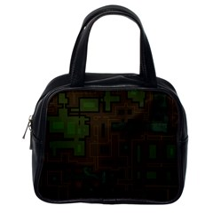 Circuit Board A Completely Seamless Background Design Classic Handbags (one Side)