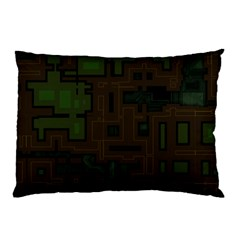 Circuit Board A Completely Seamless Background Design Pillow Case (Two Sides)