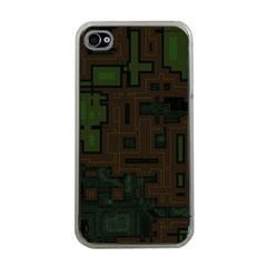 Circuit Board A Completely Seamless Background Design Apple Iphone 4 Case (clear)