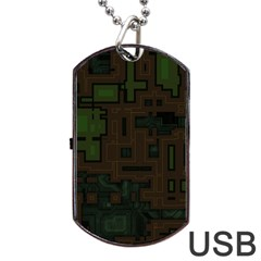 Circuit Board A Completely Seamless Background Design Dog Tag USB Flash (One Side)
