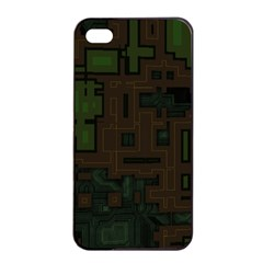 Circuit Board A Completely Seamless Background Design Apple iPhone 4/4s Seamless Case (Black)