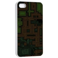 Circuit Board A Completely Seamless Background Design Apple iPhone 4/4s Seamless Case (White)