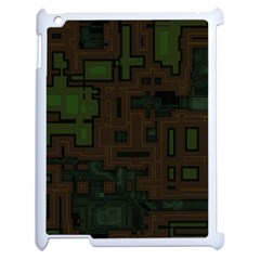 Circuit Board A Completely Seamless Background Design Apple Ipad 2 Case (white)