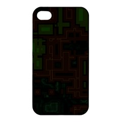 Circuit Board A Completely Seamless Background Design Apple iPhone 4/4S Hardshell Case
