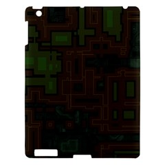 Circuit Board A Completely Seamless Background Design Apple Ipad 3/4 Hardshell Case