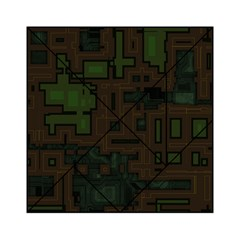 Circuit Board A Completely Seamless Background Design Acrylic Tangram Puzzle (6  x 6 )