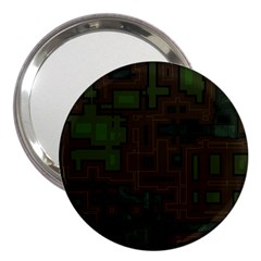 Circuit Board A Completely Seamless Background Design 3  Handbag Mirrors