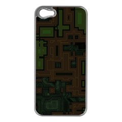 Circuit Board A Completely Seamless Background Design Apple iPhone 5 Case (Silver)