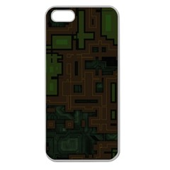 Circuit Board A Completely Seamless Background Design Apple Seamless iPhone 5 Case (Clear)