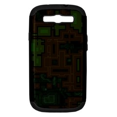 Circuit Board A Completely Seamless Background Design Samsung Galaxy S III Hardshell Case (PC+Silicone)