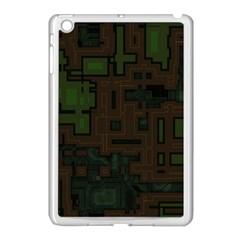Circuit Board A Completely Seamless Background Design Apple iPad Mini Case (White)