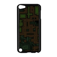 Circuit Board A Completely Seamless Background Design Apple iPod Touch 5 Case (Black)