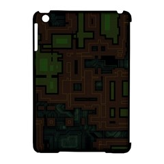Circuit Board A Completely Seamless Background Design Apple iPad Mini Hardshell Case (Compatible with Smart Cover)